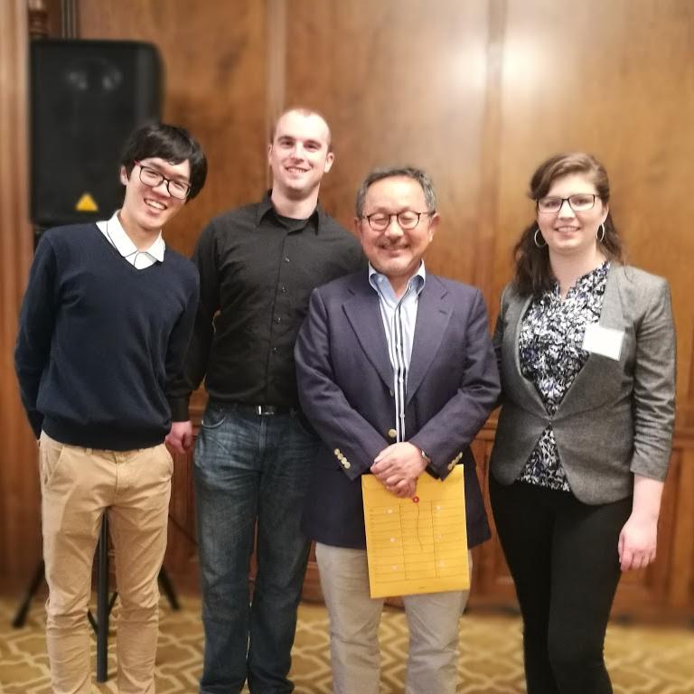 Qinggang Yu, Brian Kraus, Shinobu Kitayama, and Cristina Salvador at a symposium to celebrate the retirement of Richard Nisbett.