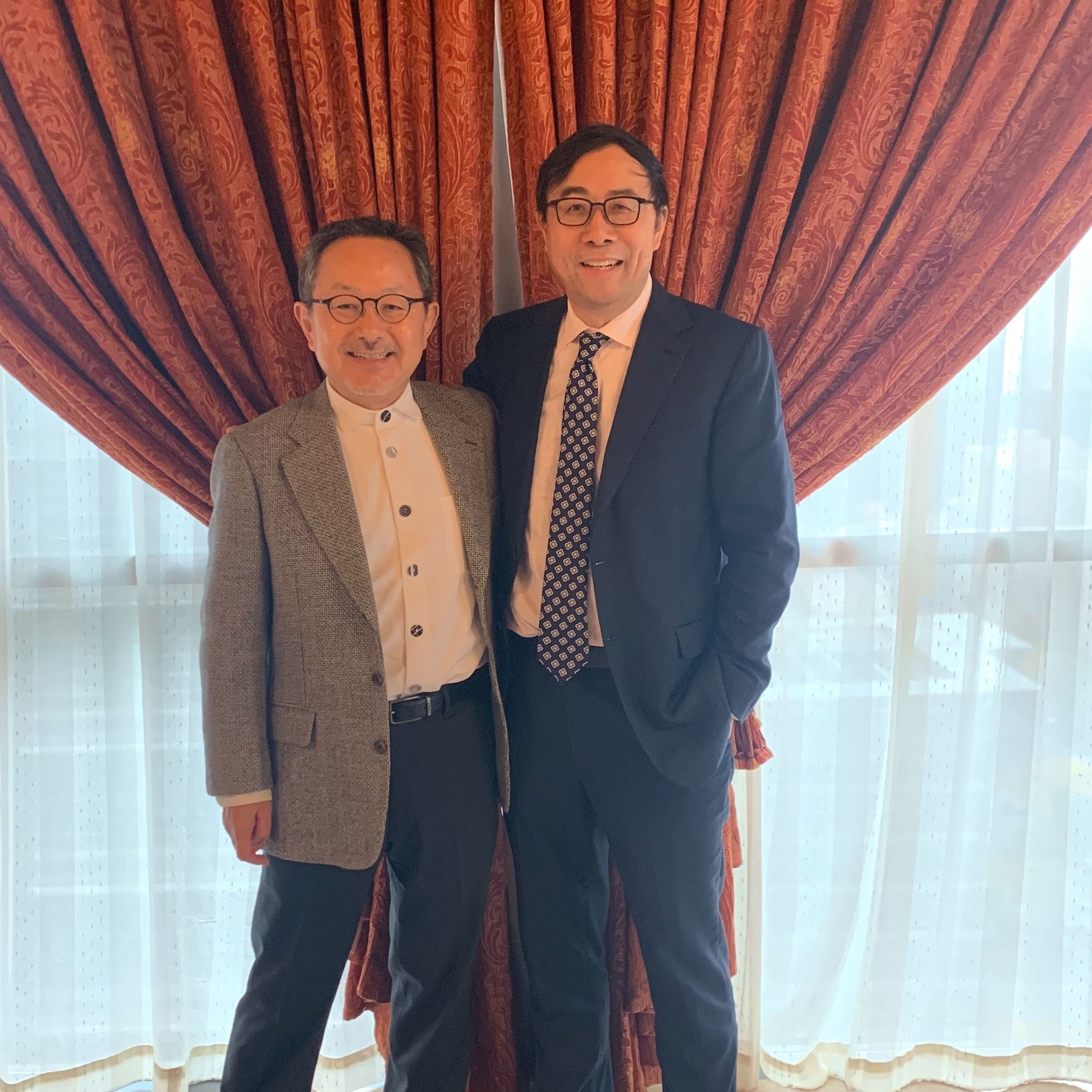 Shinobu Kitayama with Kaiping Peng, a graduate of the culture and cognition program, and currently the social science dean at the Tsinghua University, Beijing, China